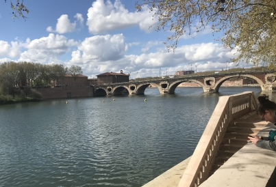 The Garonne, in Toulouse!
