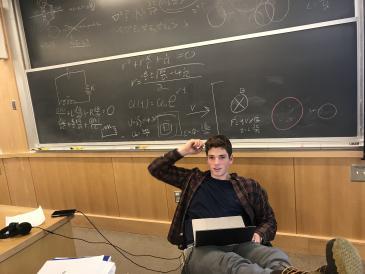 Andrew studying