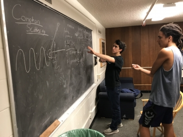 Physics problems in the basement of my freshman dorm