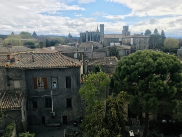A medieval skyline at Carcassonne...
