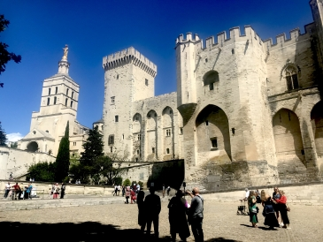 The Palais des Papes in Avignon!