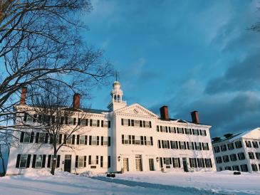 Dartmouth Hall at sunset