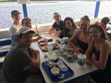 Seafood stop after the beach