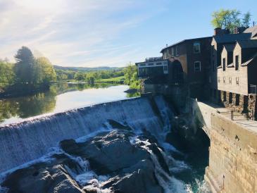 dam and falls