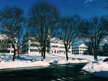 Can't go wrong with a different angle of Dartmouth Hall!