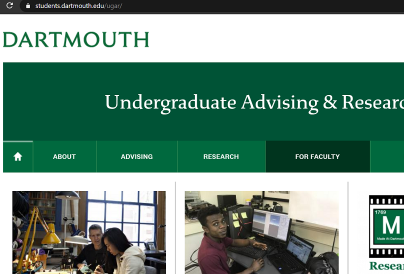 Dartmouth UGAR Database