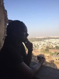 Meka gazing off into the distance
