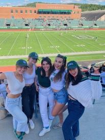 girls at a football game