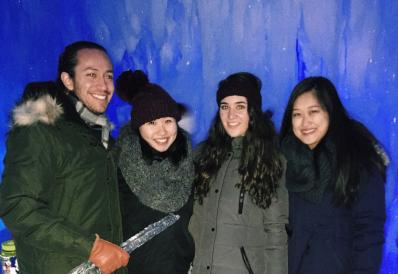Ice castles in NH