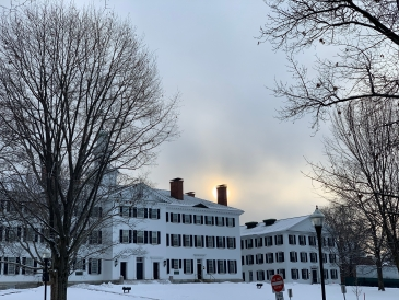 Dartmouth Hall in the snow