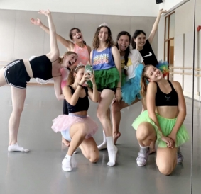 Dancers in mirror