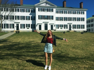 Julia in Spring 2017 after committing to Dartmouth!
