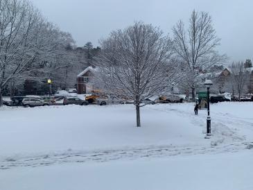 Wintery campus