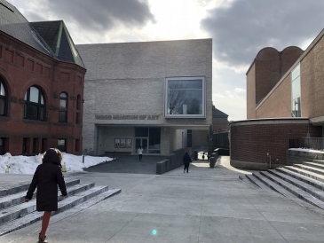The outside of the Hood Museum at Dartmouth College.