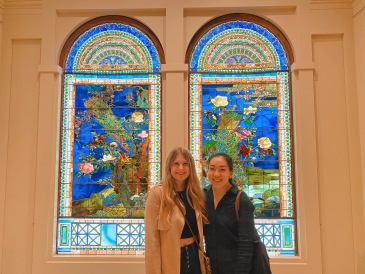 at museum stained glass windows