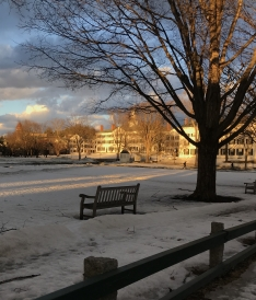 Icy sunset on Dartmouth Hall