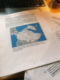 A picture of my homework about the Upper Valley's glacial history.