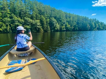 Canoeing on Connecticut River