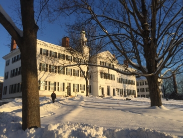 Dartmouth hall in the winter