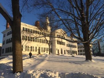 Dartmouth hall in the winter
