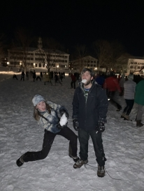 Picture of the snowball fight