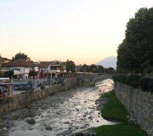 Dukofest Prizren sunset festival bridge river Kosovo