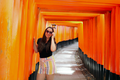 Colleen at a temple in Kyoto