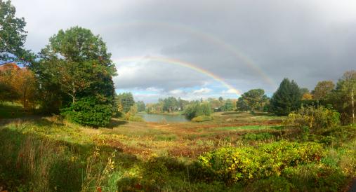 double rainbow at Occom