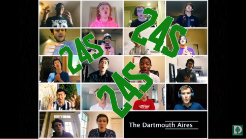 Dartmouth Aires performing a song for the '24s