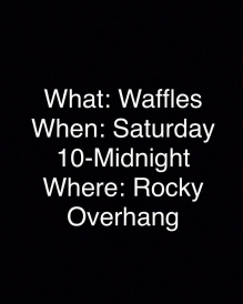 Our Instagram Announcement for Waffles
