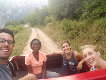 hitchhiking truck rrugova mountains kosovo
