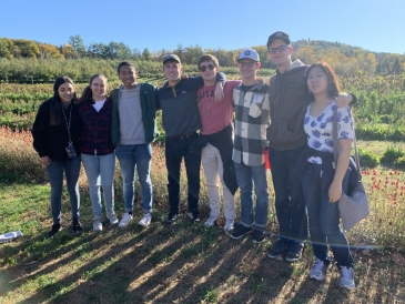 A Pic with friends after Apple Picking!