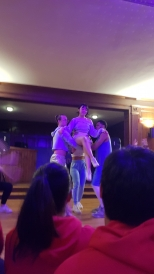 A dance performance at a Greek House
