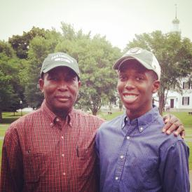 Photo of father and son at Dartmouth