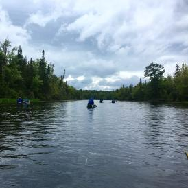 Canoeing down the Magalloway River during trips!