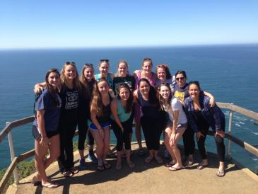 water polo team group shot in CA