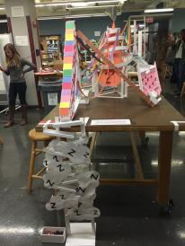 21st birthday-themed roller coaster for engineering class