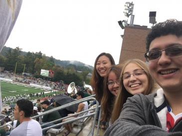 Autumn and friends at football game