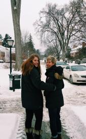 Jul with her mom