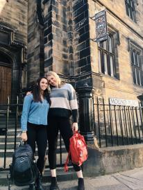 Sophie and I on our first day of school in Edinburgh!