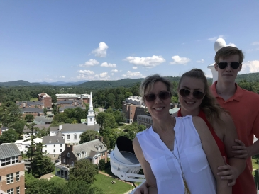 Me and part of my family at Baker Tower.