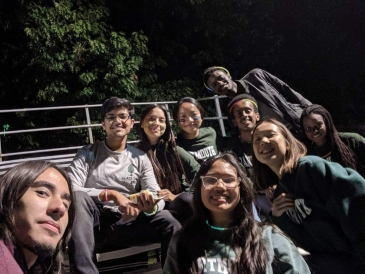 Dartmouth students at Homecoming