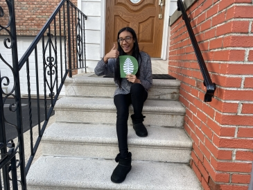 Happy Senior-Year Me after receiving acceptance to Dartmouth!