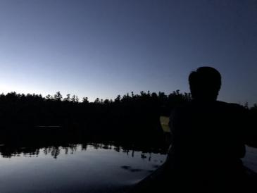 Gabe canoeing
