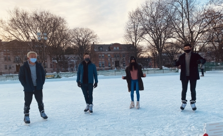 Ice Skating on the Green with some Friends!