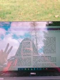 computer outside work