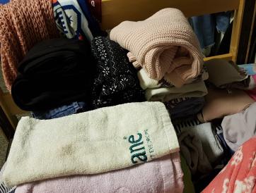 Folding my laundry