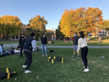 Spikeball on the Green