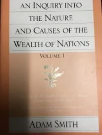 One volume of Adam Smith's Wealth of Nations