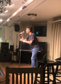 Nick Performing Stand Up Comedy